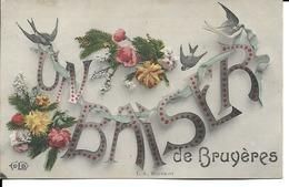 "88 - Bruyères - Carte Fantaisie ""Un Baiser De Bruyères"" - Bruyeres"
