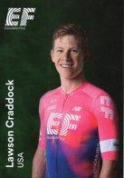 Cyclisme, Lawson Craddock, 2019, Format 6,3 X 9 Cm - Cyclisme