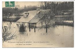EPERNAY - Inondations Dans La Marne - Janvier 1910 - L'ile Belon Près Epernay - Epernay