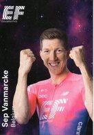 Cyclisme, Sep Vanmarcke, 2019, Format 6,3 X 9 Cm - Cycling