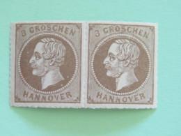 Hanover 1864 Mint Stamp King George V - 2 X Perce En Arc - Cat. Val. = 120 $ - Hannover