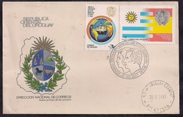 Uruguay - 1983 - FDC - Visite En Uruguay Des Rois D'Espagne - Uruguay