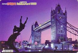 Carte Prépayée Japon - Site ANGLETERRE - PONT -  LONDON TOWER BRIDGE - England Related Japan Prepaid Rainbow Card - 167 - Landschappen
