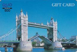 Carte Prépayée Japon - Site ANGLETERRE - PONT -  LONDON TOWER BRIDGE - England Related Japan Prepaid Quo Card - 168 - Landscapes
