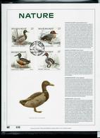 Feuillet OR  Des N° 2332/35  Nature - Canards  Obl. Athus 02/09/89 - 1985-.. Birds (Buzin)