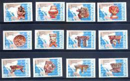 Nicaragua 1972 Mint Set 12 Stamps - Archaeology - Pre-colombian Ceramics Of Heller Collection - Nicaragua