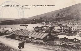 ALBANIE  -  ALLIANCE SANTI  -  QUARANTA  -  Vue Générale - A Panorama  -  Cachet Armée D'Orient ) - Albanie