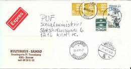 Denmark Express Cover Samsö 30-8-1993 - Denmark