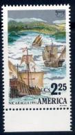 Nicaragua 1991 UPAEP - American Issue - Discovery Of America 500 Anniversary - Columbus Ships Cross - Nicaragua