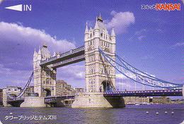 Carte Prépayée Japon - Site ANGLETERRE - PONT -  LONDON TOWER BRIDGE - England Rel Japan Prepaid Lagare Card - 169 - Landscapes