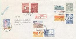 Denmark Registered Cover Struer 4-6-1973 With A Lot Of Stamps - Denmark