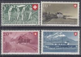 SCHWEIZ  480-483,  Postfrisch **, Pro Patria 1947, Bahnhöfe - Pro Patria