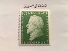 Germany H. Schulze-Delitzsch Politician 1958 Mnh - [7] Federal Republic