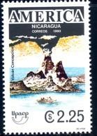 Nicaragua 1990 UPAEP - America Issue - Concepcion Volcano - Ometepe Island - Nicaragua