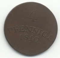 ALLEMAGNE  4 PFENNING 1810 - Small Coins & Other Subdivisions