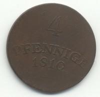 ALLEMAGNE  4 PFENNING 1810 - [ 1] …-1871 : Etats Allemands