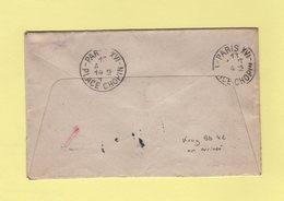 Krag - Paris XVI - Bloc Dateur 4 Lignes Seul En Arrivee - 1914 - Sur Lettre De San Diego - Panama Califoria Exposition - Marcophilie (Lettres)