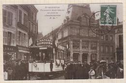 9AL1684 REPRODUCTION ST QUENTIN TRAMWAYS ELECTRIQUES ST RAPHAEL QUINQUINA PUB 2 SCANS - Postcards