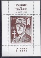 Bloc De Gaulle La Mure D'isere Draim Journee Du Timbre 1945 Ttb 8 - Liberación