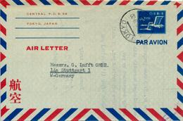 TOKYO / JAPON - 1952 , AIR LETTER Nach Stuttgart - Interi Postali