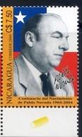 Nicaragua 2004 -  Pablo Neruda Poet Writter Chile Flag - Nicaragua