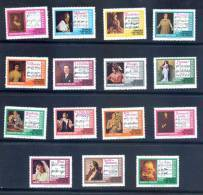 Nicaragua 1975 Mint Set Opera 15 Stamps - Music - Nicaragua