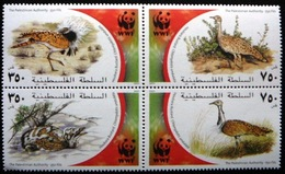 (dcth-266)    Palestinian Terratory    WWF     Mi 192-95      Yvert   165-68     2001       MNH  In Bloc - Palestine
