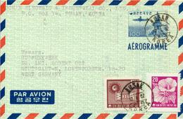KOREA South - 1961 , Aerogramme Nach Stuttgart - Corée Du Sud