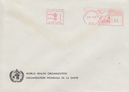 Enveloppe  Flamme   Mécanique   U.S.A   Eradication  Du  Paludisme  Malaria    WASHINGTON   1962 - Disease