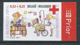 [602979]TB//ND/Imperf-c:20e-Belgique 2007, N° 3621, Croix Rouge, Red Cross, Bibliothèque à L'hôpital, ND/Imperf - Croix-Rouge