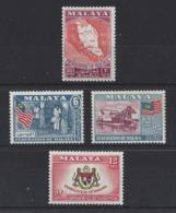 "MALAYA.."" FEDERATION OF MALAYA.."".....QUEEN ELIZABETH II.(1952-NOW)..."" 1957 ""...SET OF 4...(CAT £8.50.)...MNH. - Federated Malay States"