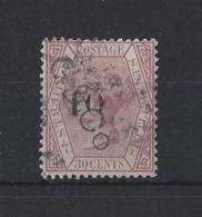 "MALAYA.."" STRAITS SETTLEMENTS ""..QUEEN VICTORIA..(1837-01)...30c...SG33......(CAT £60.)..USED. - Straits Settlements"