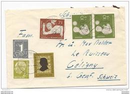 77 - 5 - Enveloppe Envoyée De Schramberg En Suisse  1956 - BRD