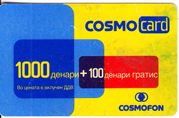 F.Y.R.O.M. - Cosmofon Prepaid Card 1000 Dinars, Exp.date 20/07/05, Used - Macédoine