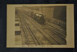 94 Val De Marne Ivry  Train Locomotive Train Pyrenees Côte D Argent Carte Photo ( Rare ) - Ivry Sur Seine