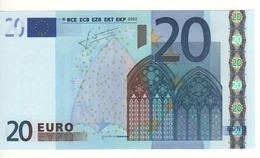 "20 EURO  ""V""   SPAGNA   Firma Trichet   M 014 H2   /  FDS - UNC - EURO"