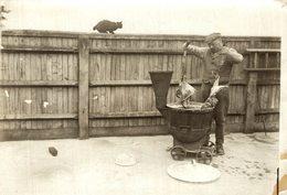 QUARANTAINE HOME FOR DOGS PREPARING MEAL   GATO CHAT KAT CAT  16*12CM Fonds Victor FORBIN 1864-1947 - Non Classificati