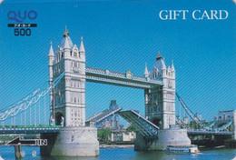 Carte Prépayée Japon - Angleterre - CHATEAU FORT - CASTLE - ENGLAND Rel Japan Prepaid Card - Série Metro - Site 177 - Landscapes