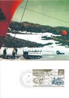 TAAF-Dumont D'Urville-T.Adélie: Carte 1er Jour Avec Timbre Poste Aérienne N°127 D10 Base Départ Des Raids - 01/01/1993 - Lettres & Documents
