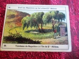 TOMBEAU EMPEREUR NAPOLÉON A L' ILE DE SAINTE HÉLÈNE Huileries Anversoises -REGLISSE CALABRO-ANVERS-BELGIQUE-CHROMO IMAGE - Altri