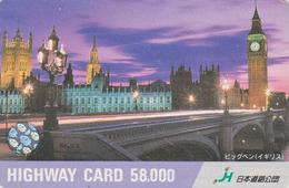 Carte Prépayée Japon - Site Angleterre - BIG BEN WESTMINSTER - ENGLAND Rel Japan Prepaid Card -  HW 178 - Landscapes