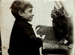 TOY RAILWAY GATO CHAT KAT CAT  21*16CM Fonds Victor FORBIN 1864-1947 - Fotos