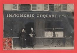 21 - Dijon - Carte Photo Imprimerie Au 91 Rue Rousseau - Dijon