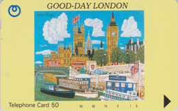 TC Japon / 110-65435 - Angleterre - Série GOOD DAY LONDON - BIG BEN WESTMINSTER - ENGLAND Rel Japan Phonecard - Site 180 - Japan