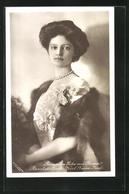 AK Kaiserin Zita Von Österreich, Braut Des Erzh. Karl Franz Josef In Kleid Mit Schleifen Und Pelzstola - Königshäuser