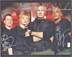 AUTOGRAPHED  PHOTO   STAR  GATE  Signed By 2 CAST MEMBERS - Autographs