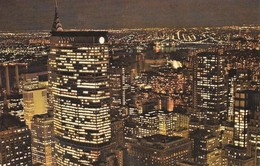 Etats Unis New York City At Night (2 Scans) - Manhattan