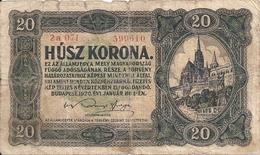 HONGRIE 20 KORONA 1920 VG P 61 - Hongrie