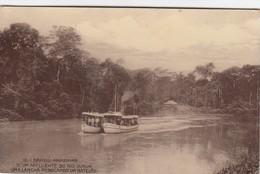 10 Brazil - Amazonas - N'um Affluente Do Rio Jurua - Uma Lancha Rebocando Um Batelao - Sonstige