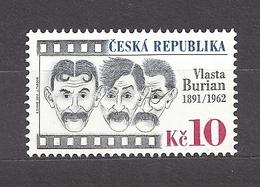 Czech Republic 2011 MNH ** Mi 677 Sc 3496 Vlasta Burian (1891-1962).Tschechische Republik. - Czech Republic